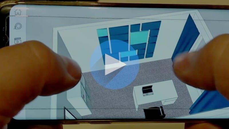 Przykład działania Sketchup Viewer na telefonie