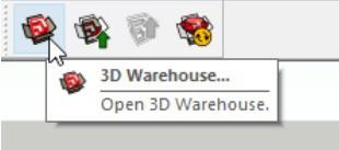 Ikona 3D Warehouse w Sketchup 2017-2020