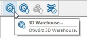 Ikona 3D Warehouse w Sketchup Pro 2021