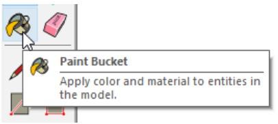 Narzędzie do malowania (Wypełnienie kolorem) w Sketchup for Web