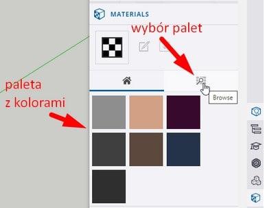 Paleta kolorów w Sketchup for Web