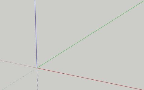 Kolory osi współrzędnych w Sketchup